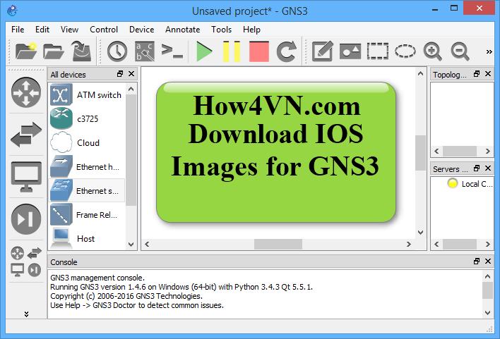Các IOS Cisco dùng trong GNS3